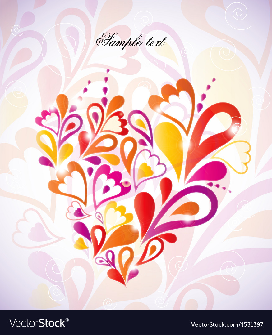 Heart colorful in the shape vector | Price: 1 Credit (USD $1)