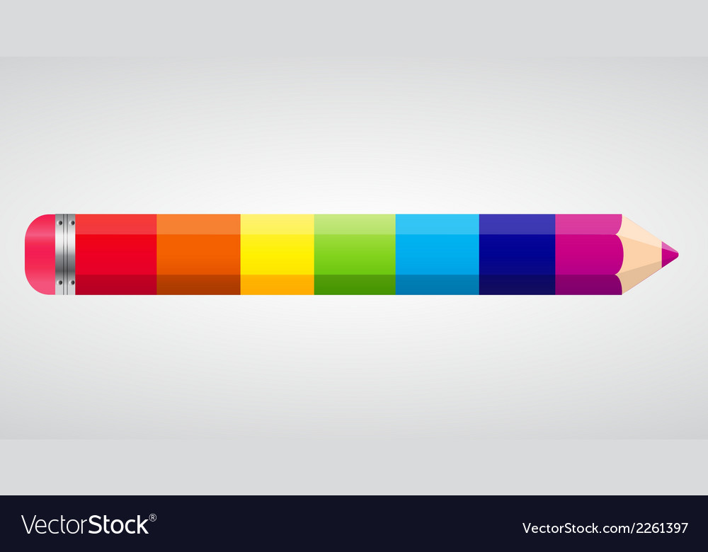 Rainbow pencil vector | Price: 1 Credit (USD $1)