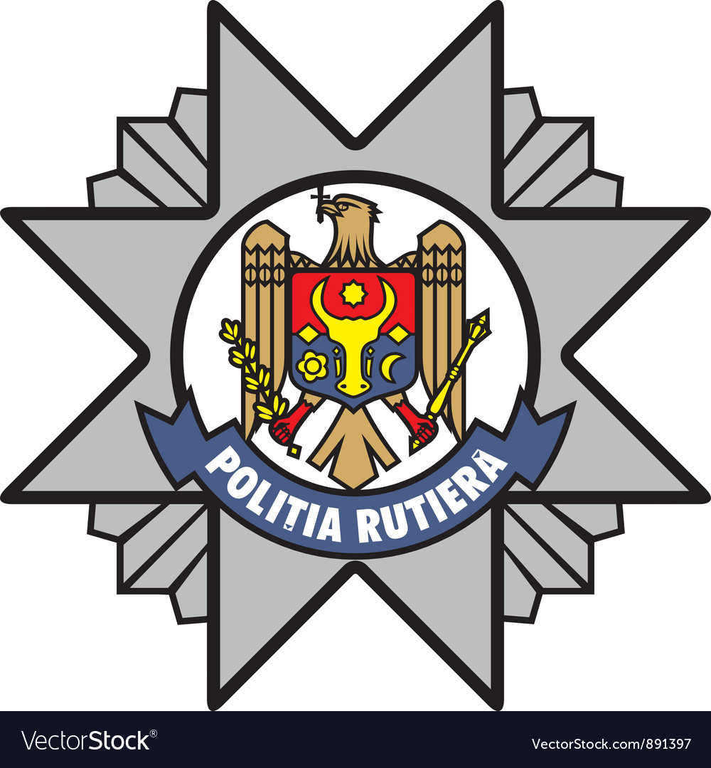 Road police of moldova emblem vector | Price: 1 Credit (USD $1)