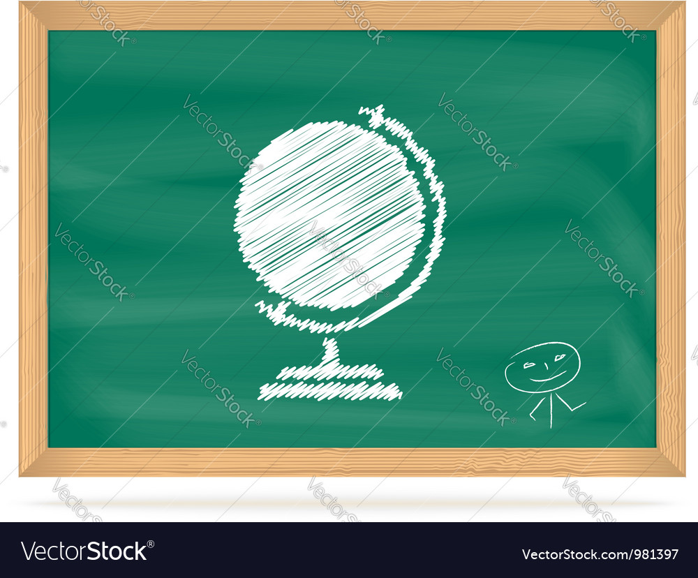 School board with a picture vector | Price: 1 Credit (USD $1)