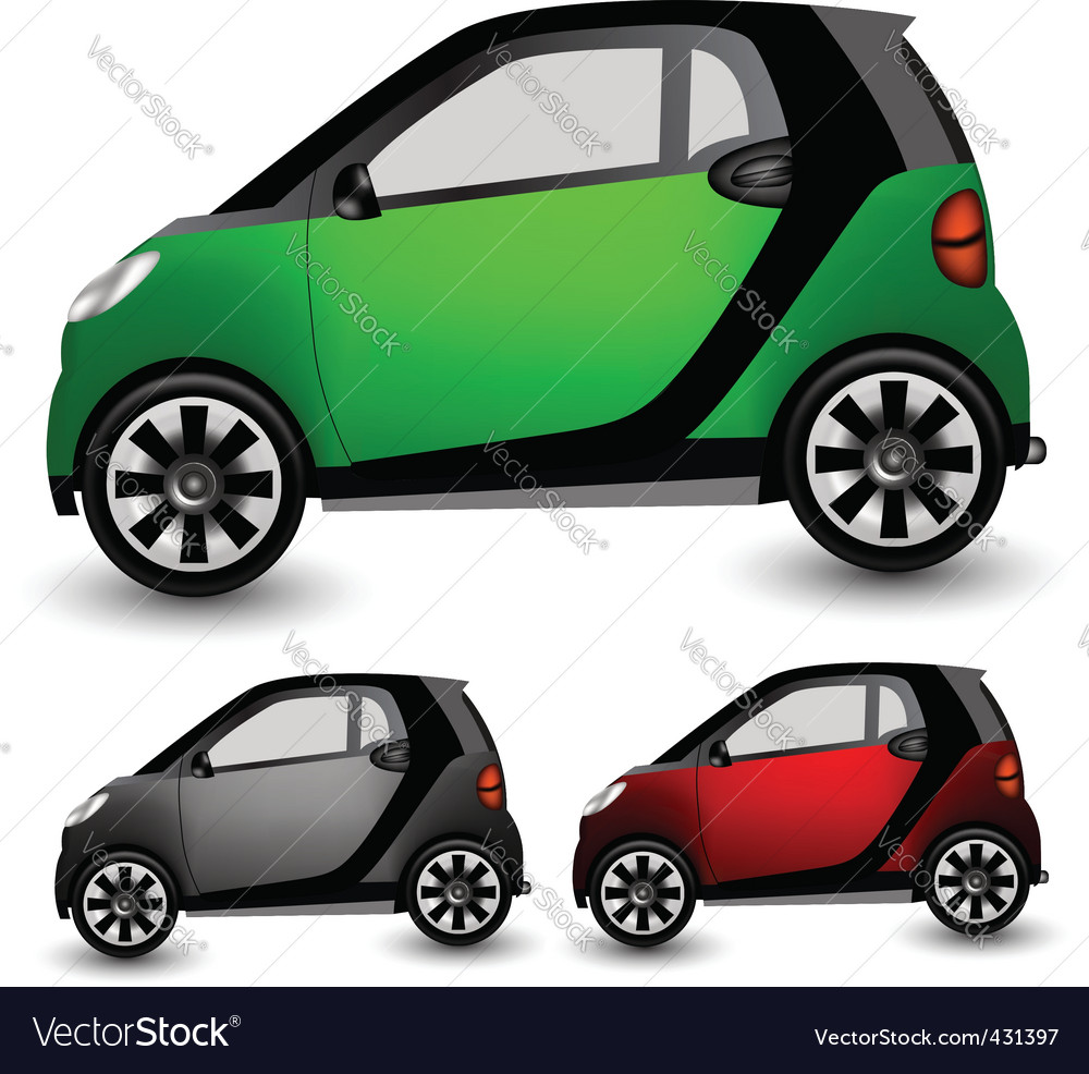 Small city car vector | Price: 1 Credit (USD $1)
