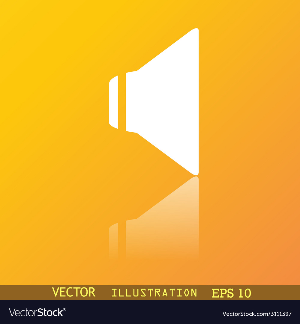 Speaker volume icon symbol flat modern web design vector | Price: 1 Credit (USD $1)