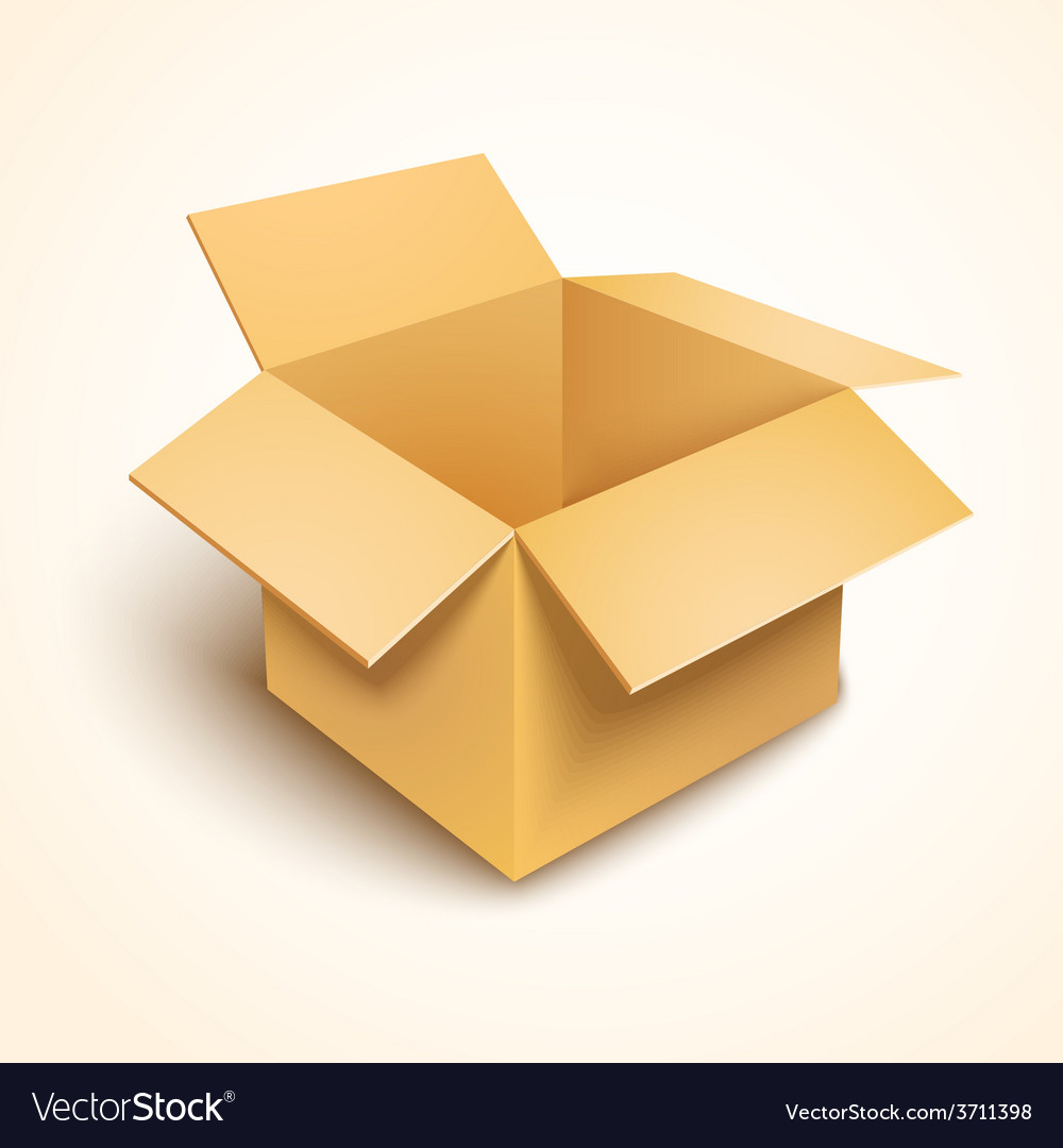 3d open cardboard box vector | Price: 1 Credit (USD $1)