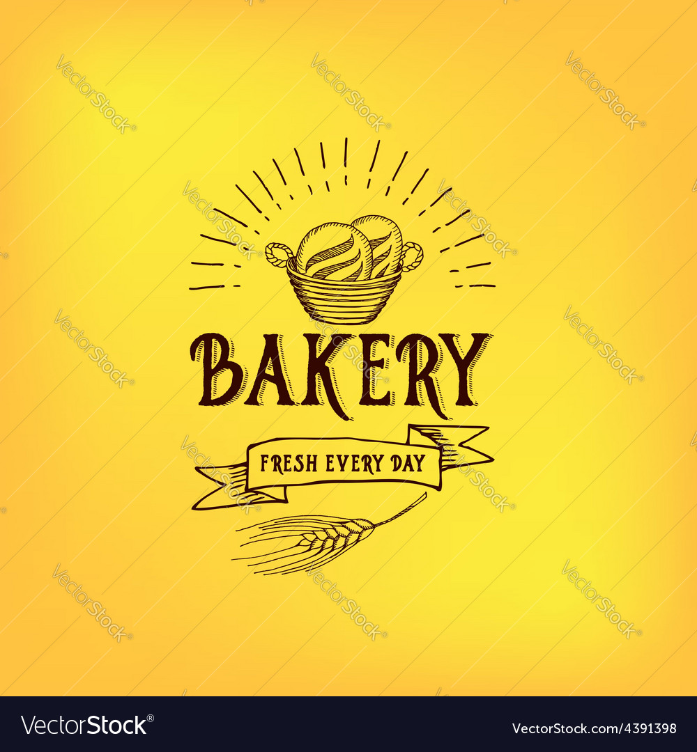 Bread and bakery design sketch doodle vector | Price: 1 Credit (USD $1)