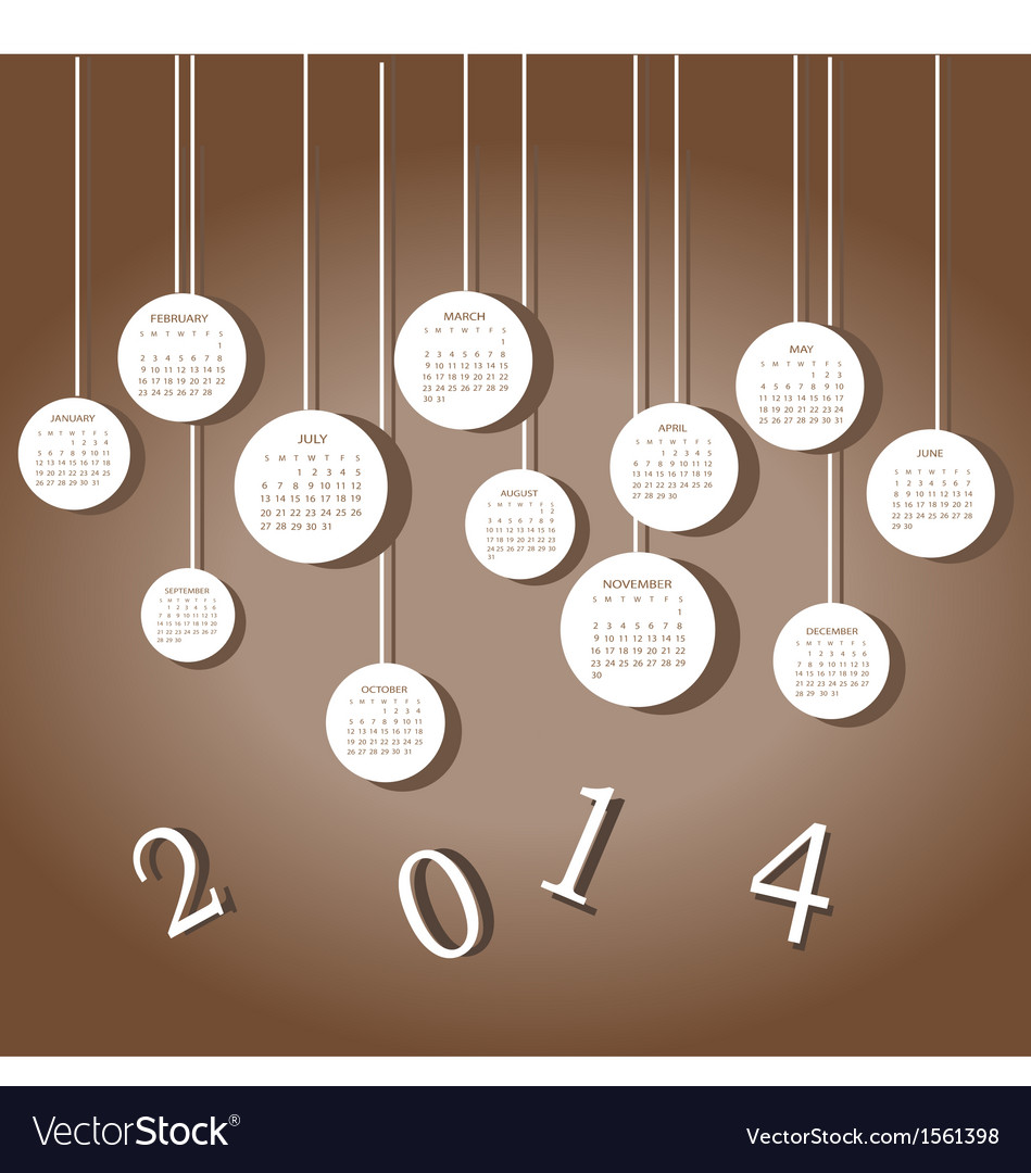 Calendar for 2014 year vector | Price: 1 Credit (USD $1)