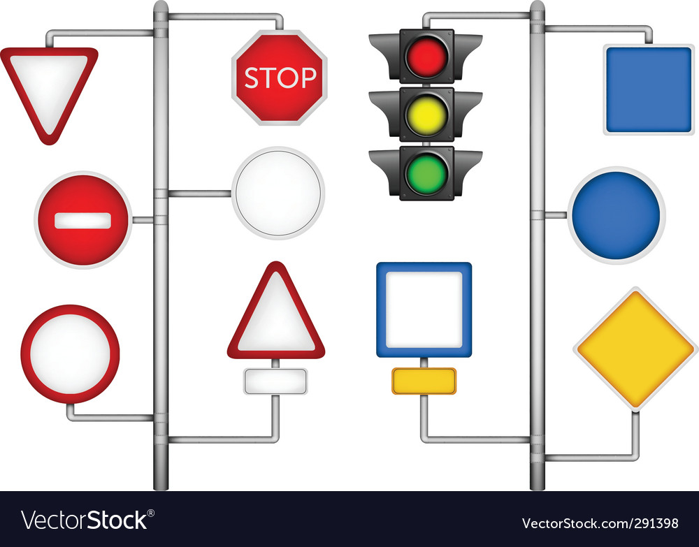 Forms for a road signs vector | Price: 1 Credit (USD $1)