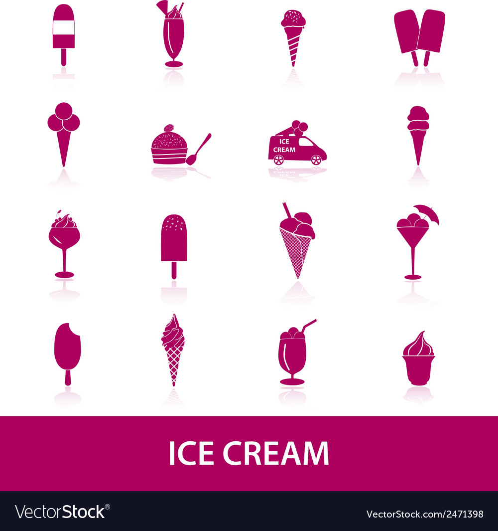 Ice cream icons eps10 vector | Price: 1 Credit (USD $1)