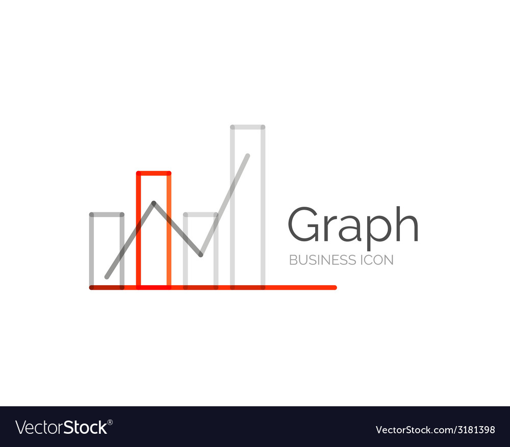 Line minimal design logo graph vector | Price: 1 Credit (USD $1)