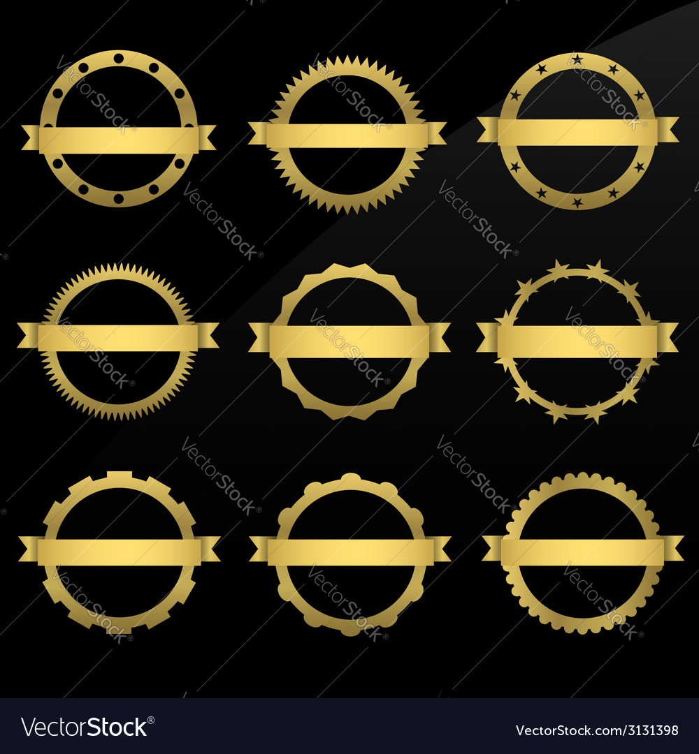 Round golden frames vector | Price: 1 Credit (USD $1)