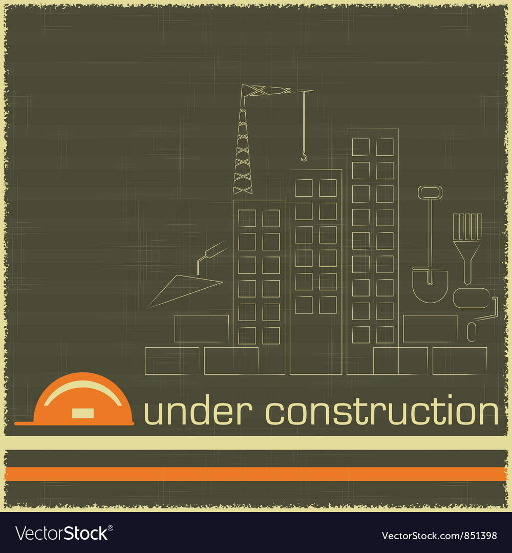 Under construction in black and orange color vector | Price: 1 Credit (USD $1)