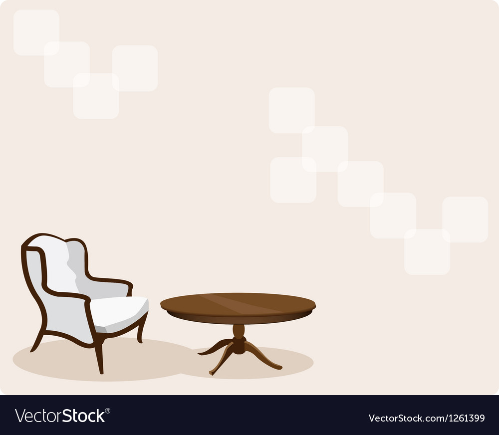 Antique leather armchair in living room background vector | Price: 1 Credit (USD $1)
