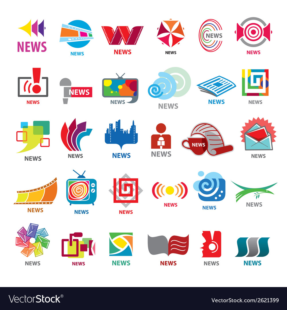 Biggest collection of logos news vector | Price: 1 Credit (USD $1)