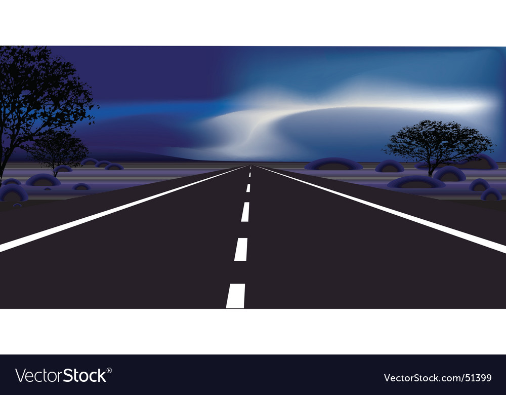 Dark road vector | Price: 1 Credit (USD $1)