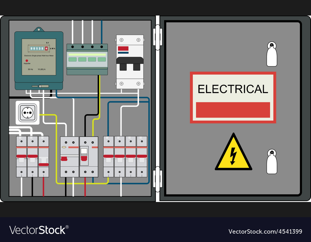 Electrical panel vector | Price: 1 Credit (USD $1)