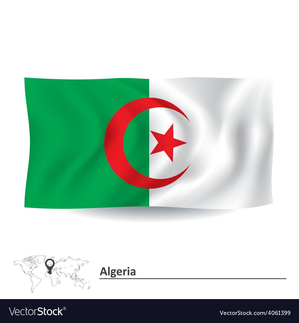 Flag of algeria vector | Price: 1 Credit (USD $1)
