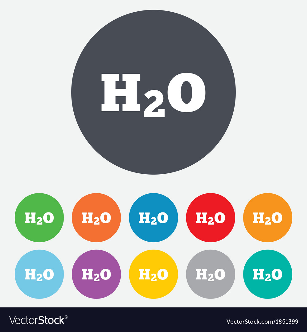 H2o water formula sign icon chemistry symbol vector   Price: 1 Credit (USD $1)