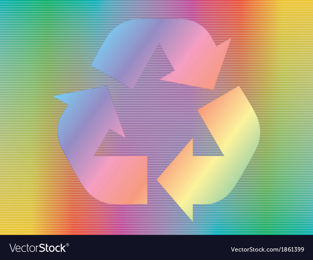 Hologram with recycle icon vector | Price: 1 Credit (USD $1)
