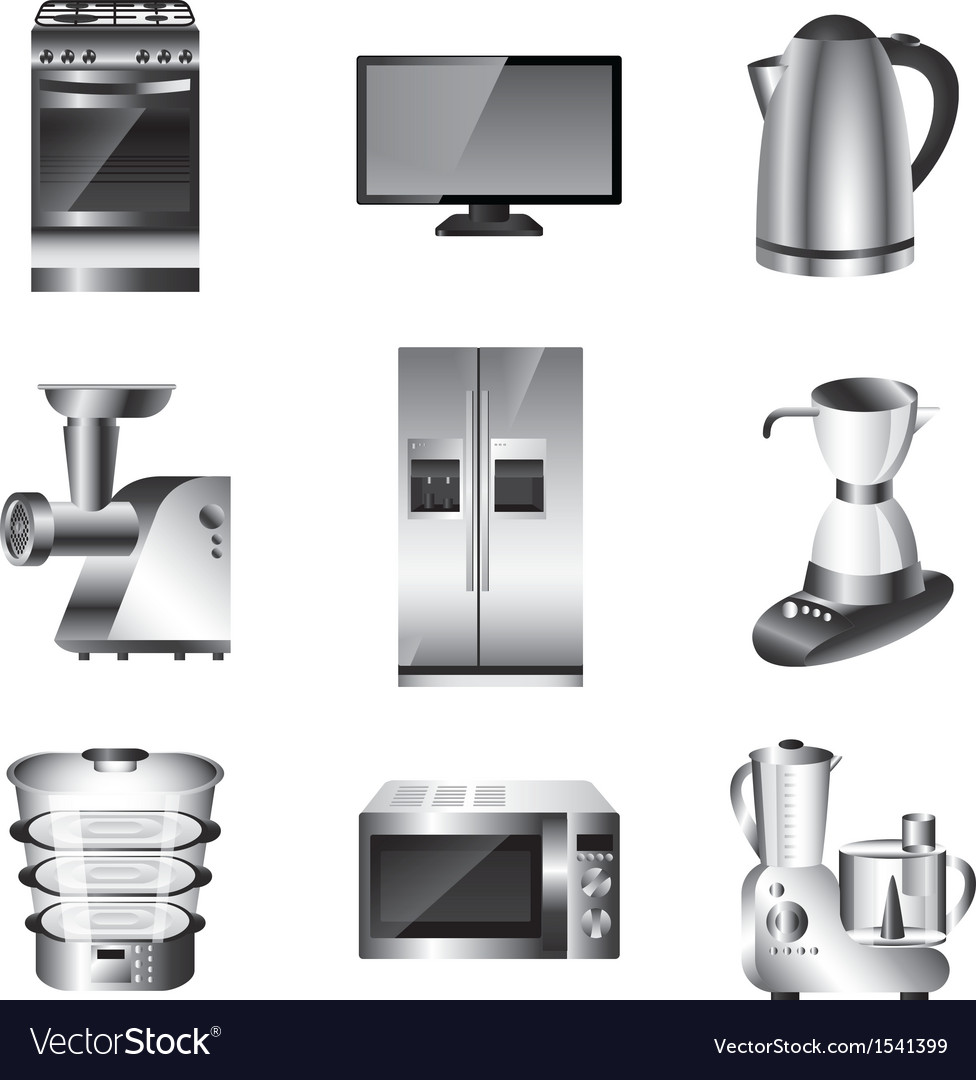 Icons technic kitchen vector | Price: 3 Credit (USD $3)