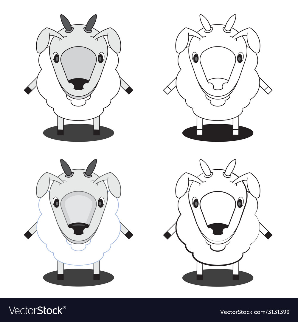 Lamb in different styles vector | Price: 1 Credit (USD $1)