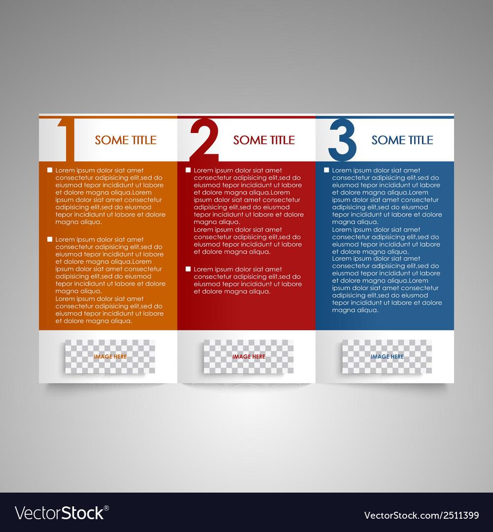 Modern brochure design element vector | Price: 1 Credit (USD $1)