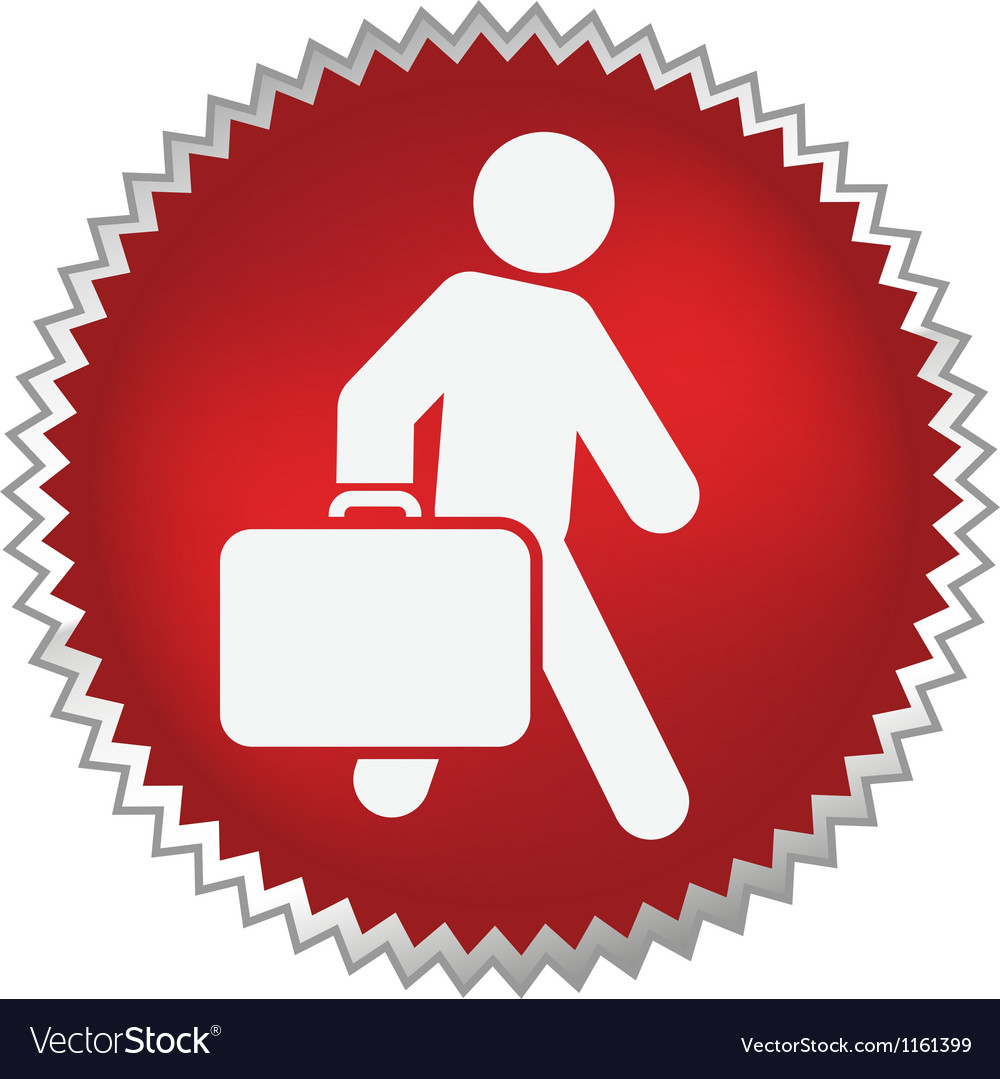 Passenger with luggage moving forward vector | Price: 1 Credit (USD $1)