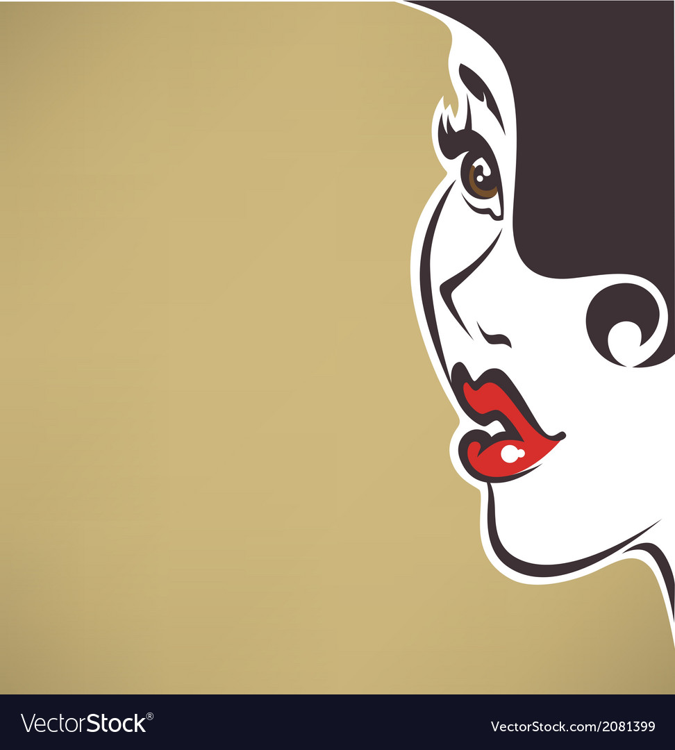 Pin up face vector | Price: 1 Credit (USD $1)