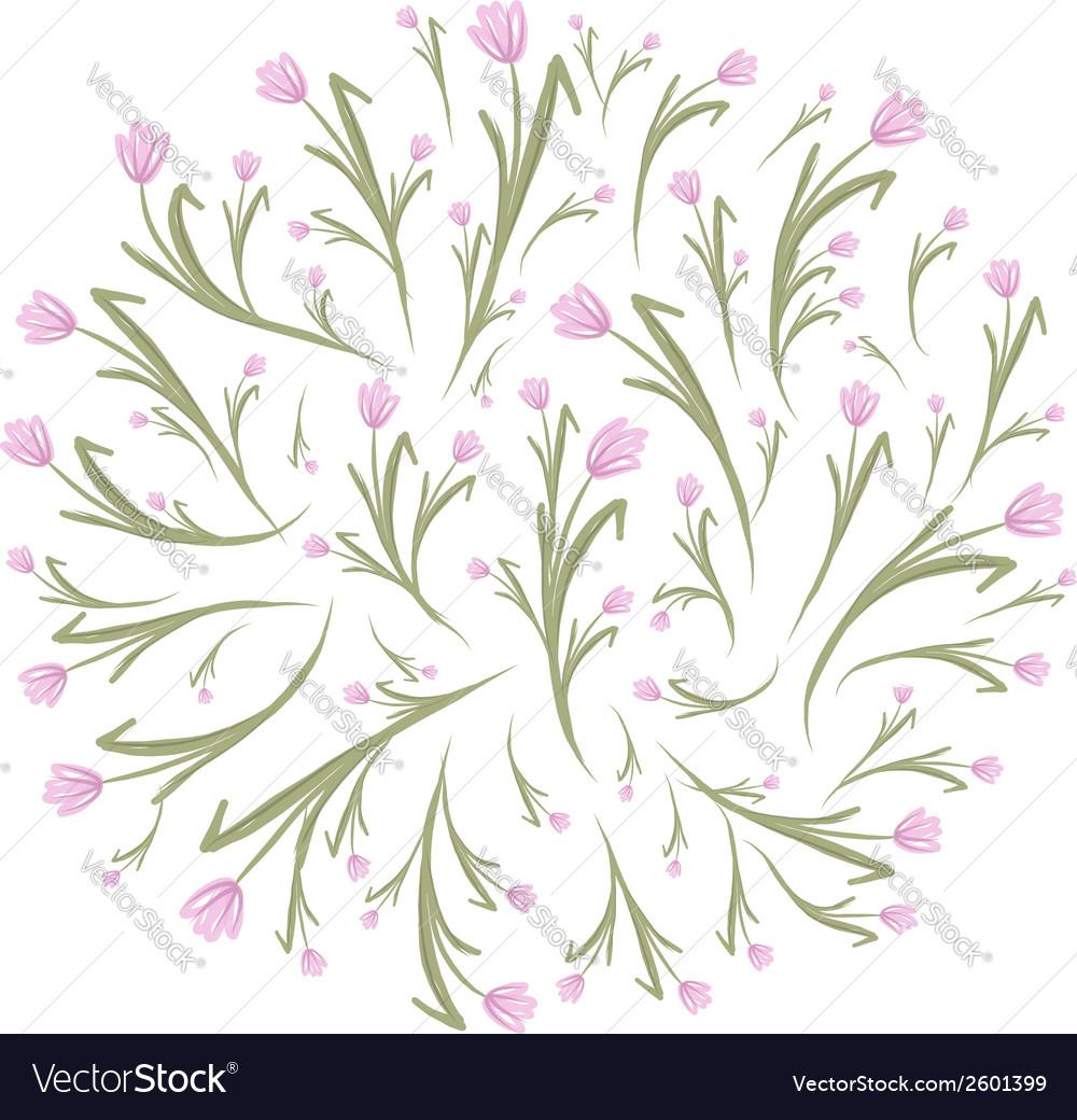 Spring floral frame for your design vector | Price: 1 Credit (USD $1)