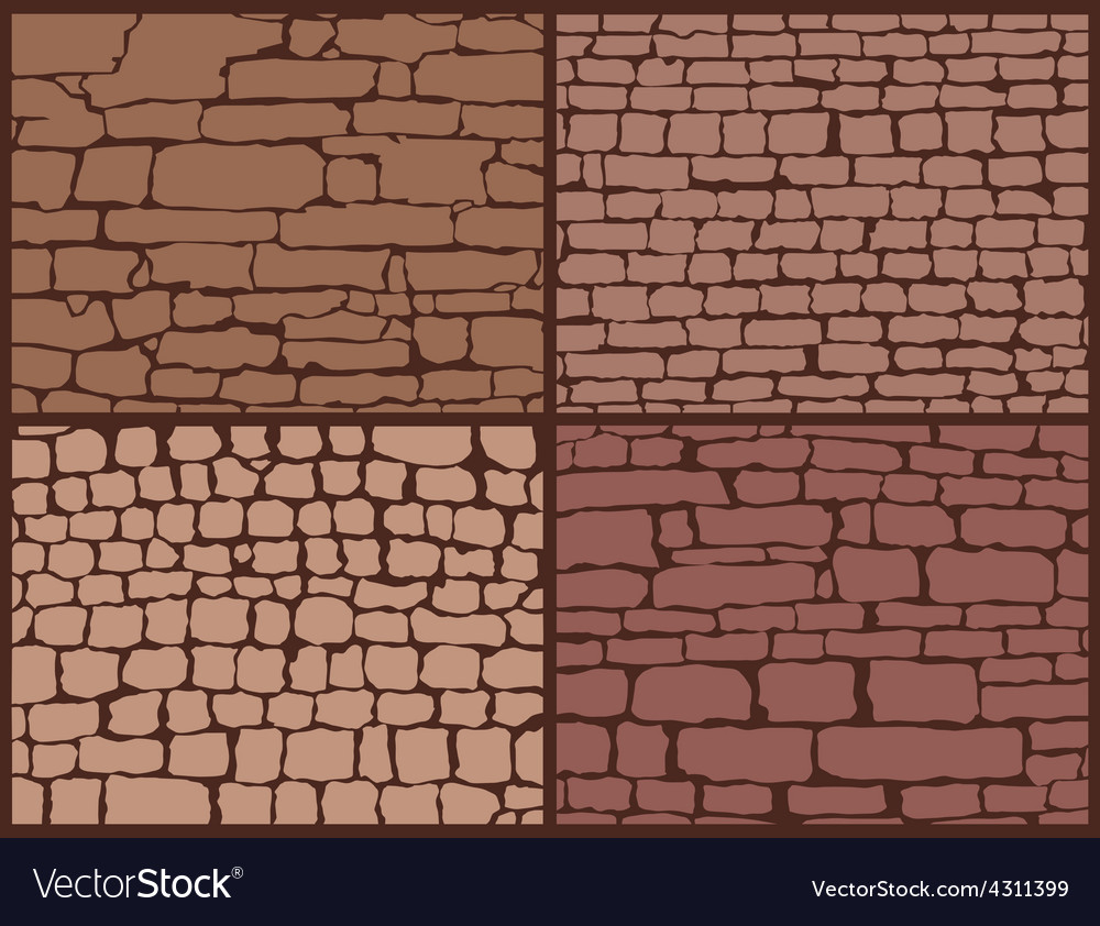 Stone masonry set vector | Price: 1 Credit (USD $1)