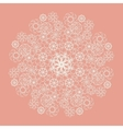 White lace serviette on pink background vector