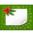 Christmas background with gift bow and fir vector