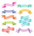 Ribbons set color vector