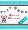 Happy birthday retro postcard with dot textured vector