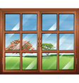 A window with clear glasspanes vector