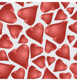 Love 3d hearts seamless pattern eps10 vector