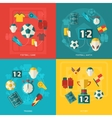 Soccer icons flat vector