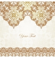 Luxury gold border on seamless background vector