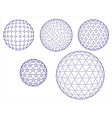 Abstract background icons of abstract spheres vector