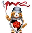 Puppy knight vector