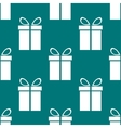 Gift web icon flat design seamless gray pattern vector