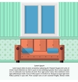 Flat of living room interior vector