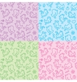 Hand drawn seamless patterns vector