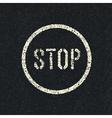 Stop road sign vector