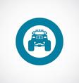 Monster car icon bold blue circle border vector