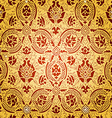 Gold seamless abstract floral pattern vector