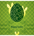 Easter greeting card with egg and abstract rabbit vector