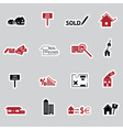 Real estate stickers eps10 vector