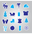 Winter and xmas icon stickers eps10 vector