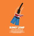 Bungy jump vector