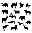 Silhouettes animal vector