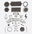Rough sketch design elements vector